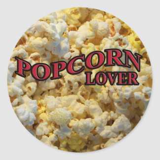 Popcorn Lover Gifts and Apparel Classic Round Sticker