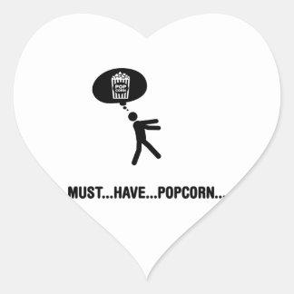 Popcorn Lover Heart Sticker