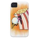 Popcorn Loves Ice Cream iPhone 4 Covers