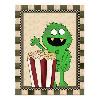 Popcorn Monster add words postcard