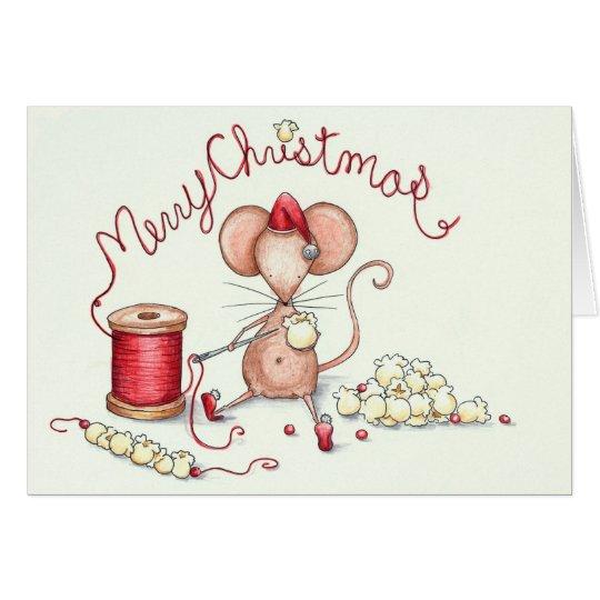 Popcorn Mouse Card