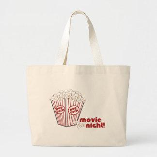 Popcorn Movie Night Canvas Bags
