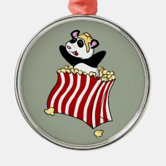 Popcorn Panda! Christmas Ornament