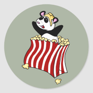 Popcorn Panda! Round Sticker
