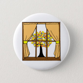 Popcorn Popping on the Apricot Tree 6 Cm Round Badge