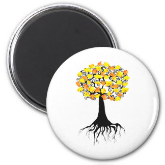 Popcorn Popping on the Apricot Tree 6 Cm Round Magnet