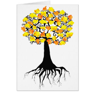 Popcorn Popping on the Apricot Tree Card