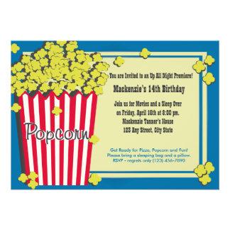 Popcorn Premiere Invitations