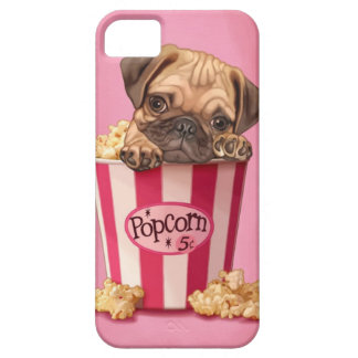 Popcorn Pug iPhone 5 Cover