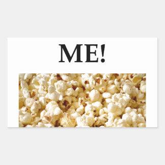 popcorn rectangular sticker