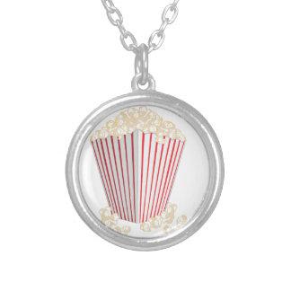 Popcorn Round Pendant Necklace