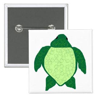 Popcorn sea turtle button