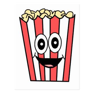 popcorn smiling postcard