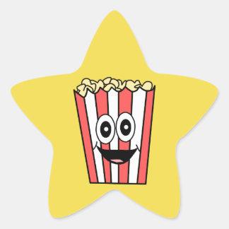 popcorn smiling star sticker