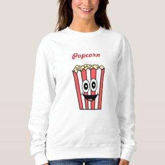 popcorn smiling sweatshirt