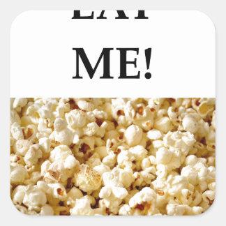 popcorn square sticker