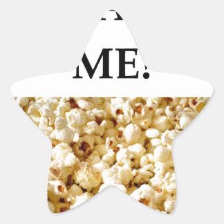 popcorn star sticker