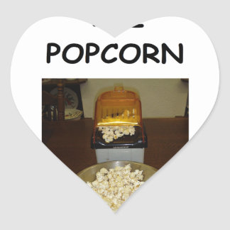 POPCORN HEART STICKER