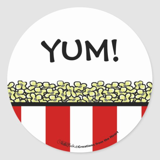 Popcorn Round Stickers