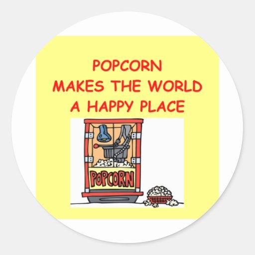 popcorn round sticker