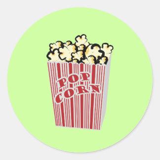 Popcorn Sticker! Classic Round Sticker
