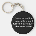 Popcorn Sutton Keychain