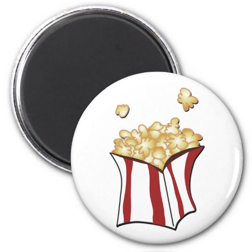 Popcorn T-shirts and Gifts Refrigerator Magnets