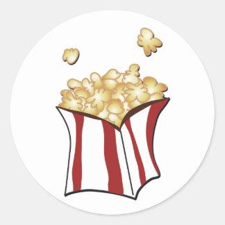 Popcorn T-shirts and Gifts Round Sticker