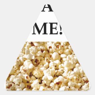 popcorn triangle sticker