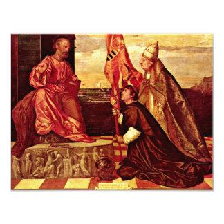 Pope Alexander Vi.Empfielt Jacopo Pesaro To St. Pe 11 Cm X 14 Cm Invitation Card