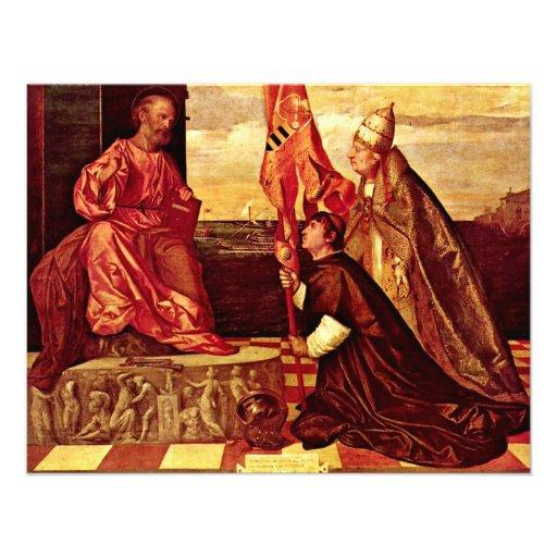 Pope Alexander Vi.Empfielt Jacopo Pesaro To St. Pe Invitation
