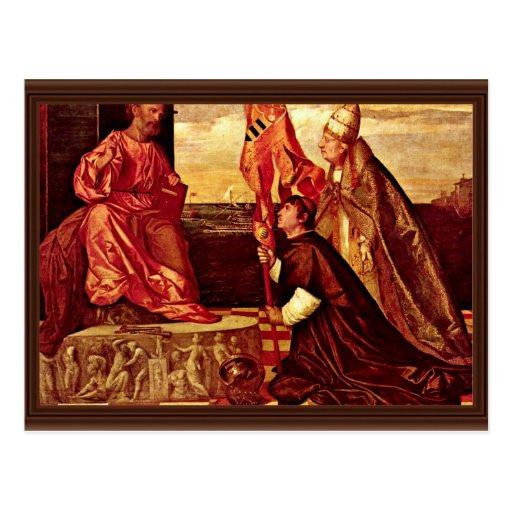 Pope Alexander Vi.Empfielt Jacopo Pesaro To St. Pe Post Cards