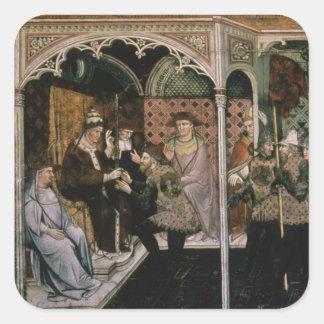 Pope and Emperor, c.1408-1410 Square Sticker