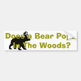 Pope Bear 2013 Bumper Sticker