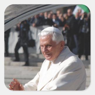 Pope Benedict Square Sticker