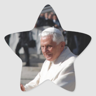 Pope Benedict Star Sticker