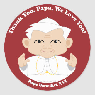 Pope Benedict XVI Round Sticker