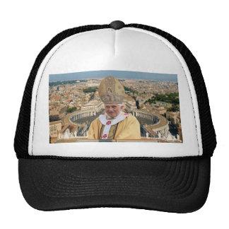 Pope Benedict XVI with the Vatican City Cap