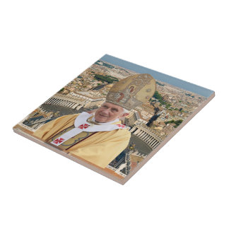 Pope Benedict XVI with the Vatican City Tile