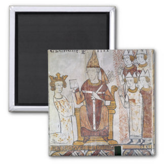 Pope Clement IV Investing Charles of Anjou Refrigerator Magnet