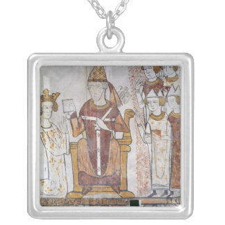 Pope Clement IV Investing Charles of Anjou Silver Plated Necklace