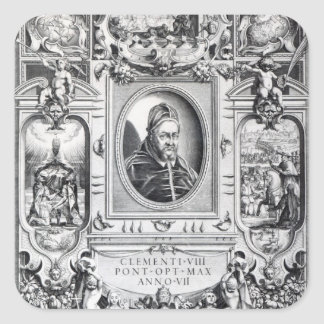 Pope Clement VIII, surrounded Square Sticker