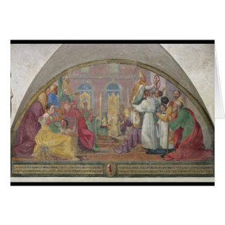 Pope Eugene IV Consecrating the convent of San Mar Greeting Card