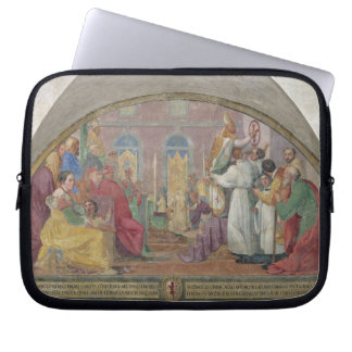 Pope Eugene IV Consecrating the convent of San Mar Laptop Computer Sleeve