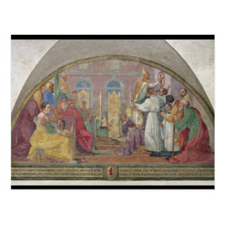 Pope Eugene IV Consecrating the convent of San Mar Postcard