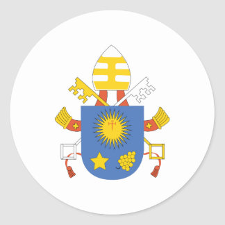 Pope_Francis_Coat_Of_Arms Round Sticker