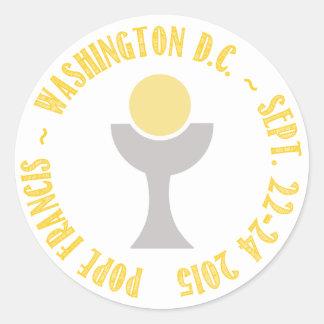 Pope Francis Papal Visit Washington D.C. 2015 Round Sticker