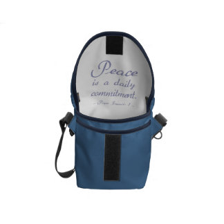 Pope Francis Peace Commitment Courier Bag