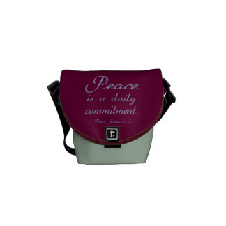 Pope Francis Peace Commitment Courier Bags