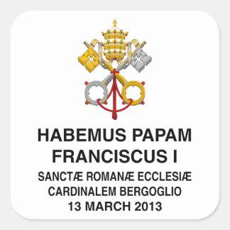 Pope Francis Square Sticker
